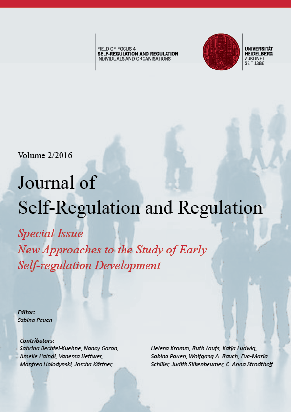 New Report On Self Regulation And >> Vol 2 2016 Special Issue New Approaches To The Study Of Early