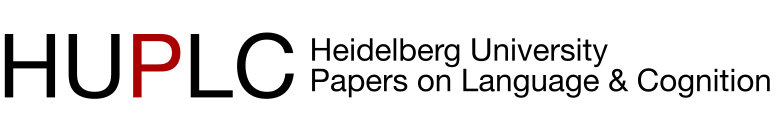 Heidelberg University Papers on Language and Cognition