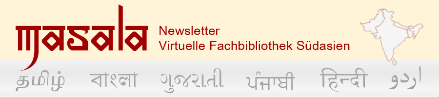 Masala - Newsletter Virtuelle Fachbibliothek Südasien