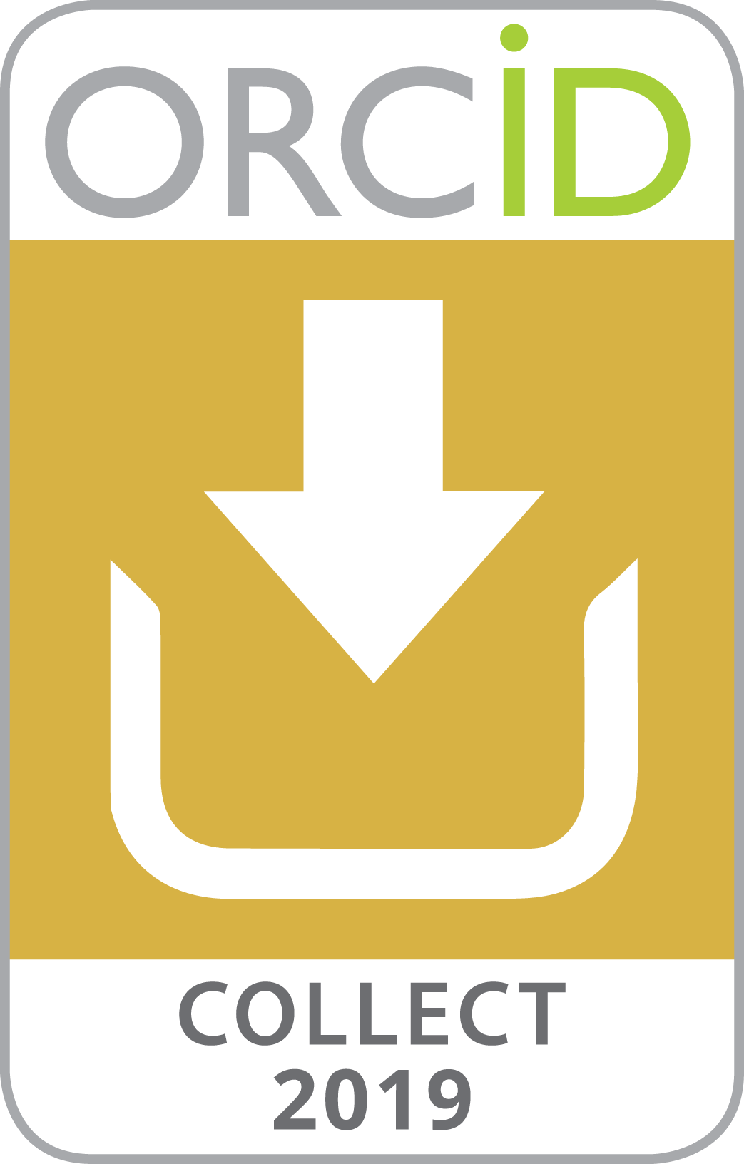 2019 ORCID Collect & Connect badge -- Connect